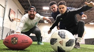 Football vs Soccer Trick Shots | Dude Perfect